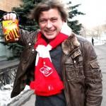 Солист группы «Би-2» Лёва был задержан на матче «Спартака» с пакетом марихуаны.